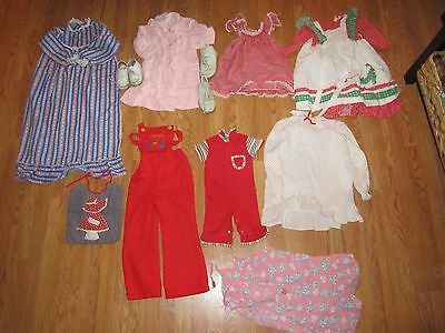 LOT OF 11 VTG GIRL'S CLOTHING & SHOES mostly sizes 3-8 and 1960's-80's