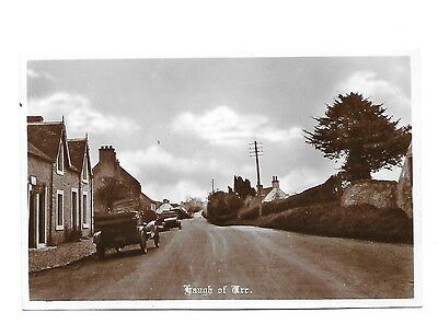 HAUGH OF URR Early RP Postcard Kirkcudbrightshire Cars