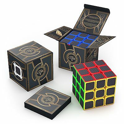 aGreatLife 3x3x3 Carbon Fiber Sticker Speed Cube: Expand Your Mind With Hours