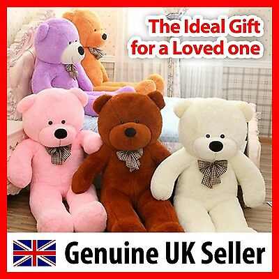 Giant teddy bear (6FT) 180cm Large soft plush Birthday Gift Present - UK Seller