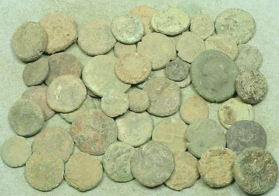 Lot Of 50 Uncleaned Greek Bronze Coins