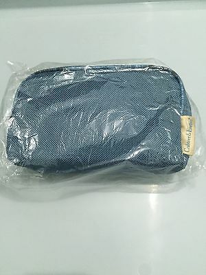 Crabtree & Evelyn Business Class Amenity Kit Blue Toothbrush Paste Mouthwash T1