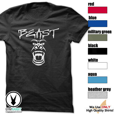 BEAST Gorilla Mode Shirt Workout Gym BodyBuilding Weight Lifting MMA c93 Art-10