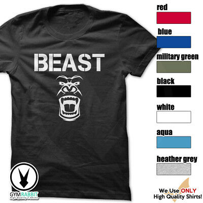BEAST Gorilla Mode Shirt Workout Gym BodyBuilding Weight Lifting MMA c93 Art-12