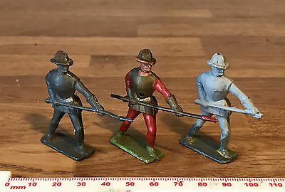 3 Vintage Painted Unpainted Lead Toy Soldiers English Roundheads Made in England