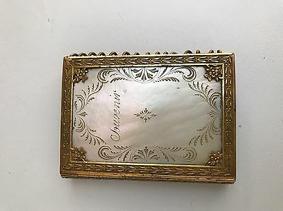 Palais Royal Mother Of Pearl Aide Memoire C1820