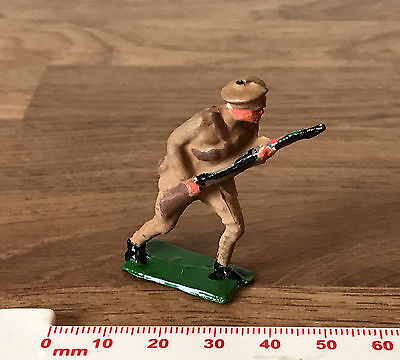 Vintage Painted Lead Toy Soldier - British 8th Infantry Desert with Long Rifle