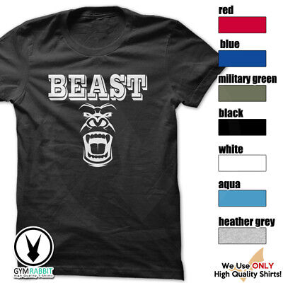 BEAST Gorilla Mode Shirt Workout Gym BodyBuilding Weight Lifting MMA c93 Art-14
