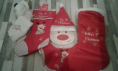 Baby's first christmas bundle of items