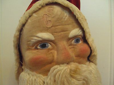 Large 28 inch, vintage, stuffed canvas / cloth SANTA CLAUS, St. Nick doll