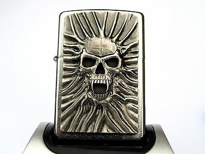 Rare Zippo Lighter - SCREAMING SKULL - Heavy plate detailed design ZIPPOS