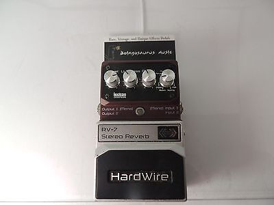 Digitech Hardwire Rv-7 Stereo Reverb  Effects Pedal Free Usa Shipping