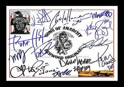 Sons Of Anarchy Signed Autograph A4 Framed Xmas Gift Present READ DESCRIPTON