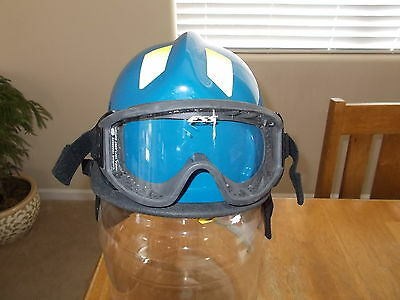 Cairns C-MOD Fire Rescue EMS Helmet Paramedic Blue with googles @LOOK@