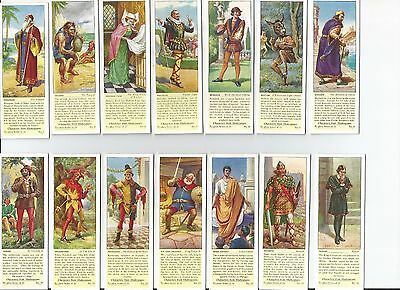 Shakespearian Characters Typhoo Tea Cards – 17 cards (Set 2)