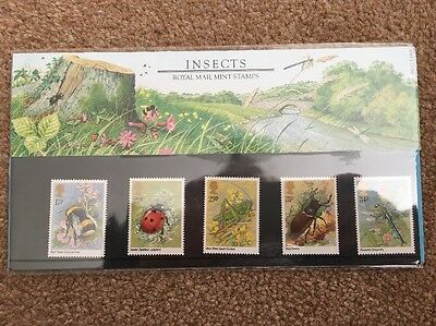 GB Stamps Mint Presentation Pack - Insects