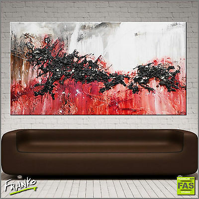 Huge Textured Abstract Painting Art Canvas Red 190cm x 100cm Franko Australia