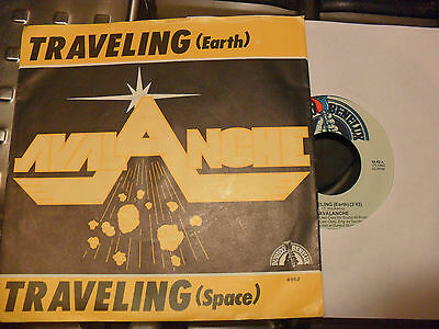 "7""AVALANCHE/TRAVELING EARTH(SPACE)1983 Synth-pop Disco - RARE LOOK!!"