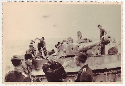 German Wwii Photo From Russian Archive: Panzer Vi Tiger Heavy Tank And Its Crew
