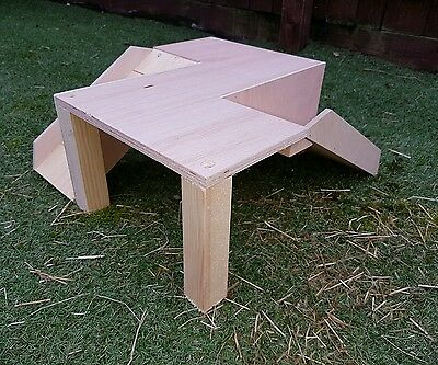 Double Ramped Play Platform  For Guinea Pig/small Rabbit ( Fully Assembled)