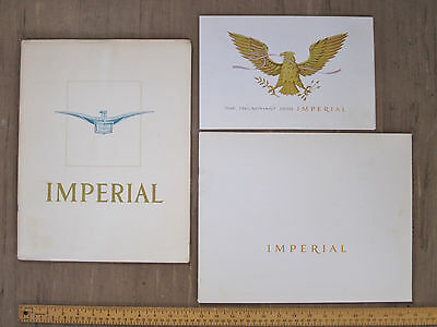 Lot 3 Different 1958 Chrysler Imperial Crown Southampton Dealer Sales Brochures
