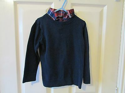 Boys Navy Jumper From Next, Size 4 Years.