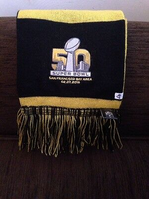 NFL SUPER BOWL Scarf New With Tag  -  2.7.2016