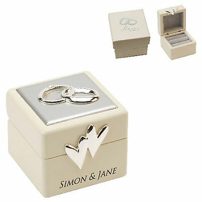 Personalised Amore by Juliana Double Wedding Ceremony Ring Bearer Ring Box