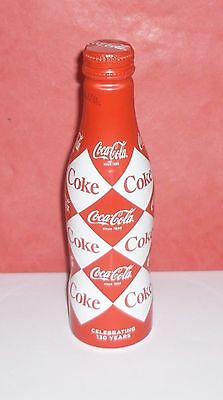 "1 Coca Cola Bouteille Coke Bottle  Alu "" Diamond  "" Full  Pleine"