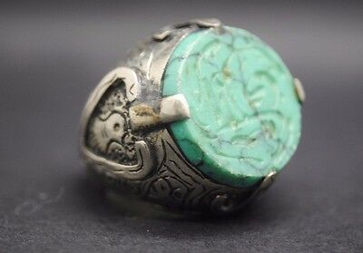 Beautiful Antique Silver Ring With Islamic Calligraphy