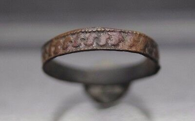 Nice Medieval Copper Band Ring 13Th - 15Th Century Ad