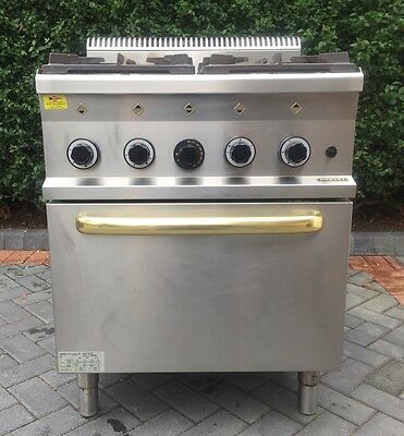 Hobart Gas Oven With 4 Burners - Commercial Heavy Duty