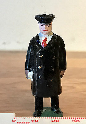 Vintage Painted Metal Toy Soldier Postman I think Crescent Toys Made in England