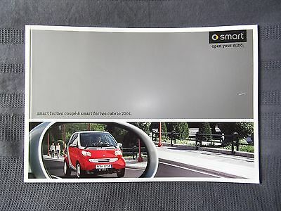 Smart Fortwo Coupe and Cabrio Brochure plus Price List 2004.
