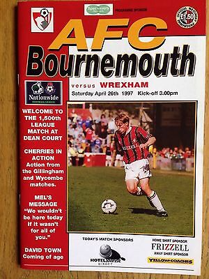 Bournemouth v Wrexham 1996/97 programme