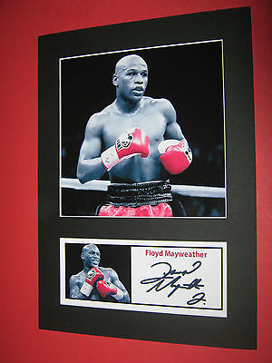 Floyd Mayweather  Boxing  A4 Photo Mount Signed Pre-Printed