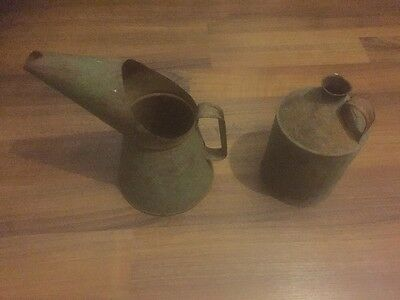 Vintage 1/2 gallon oil can pouring jug.plus Other Oil Jug