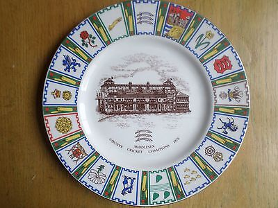 Middlesex County Cricket Champions 1976 commemorative plate