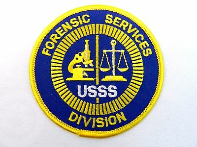 """Vintage Forensic Services USSS Division Patch 3 1/2"""" Round"""