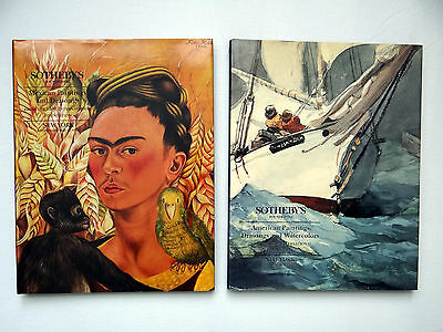 Sotheby's American & Mexican art lot of 2 HC/DJ catalogs  1995 IBM Collection
