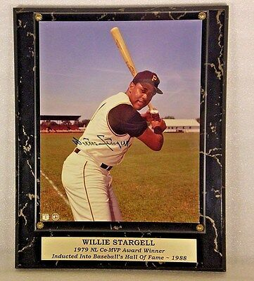 Willie Stargell Signed Autograph Plaque 10.5 x 13 GOA Stacks of Plaques Pirates