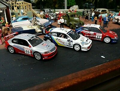 1/43 WRC Rally Cars Ford Focus, Hyundai, and Citreon!  All three!