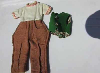 "Betsy McCall 8"" Doll Pony Pals Variation Riding Outfit 1957 White And Tan VHTF"