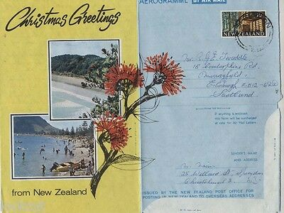NEW ZEALAND 10c STAMP AIRMAIL PICTURE COVER 1969