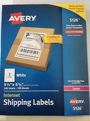 Avery 5126, 600 Laser Shipping Labels