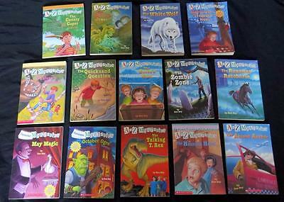 14 A to Z Mysteries CALENDAR MYSTERY CHAPTER BOOK SET child 2nd gr lot Ron Roy