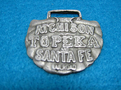 Vintage Atchison Topeka And Santa Fe Railroad Co. ~ Advertising Watch Fob ~ Nice