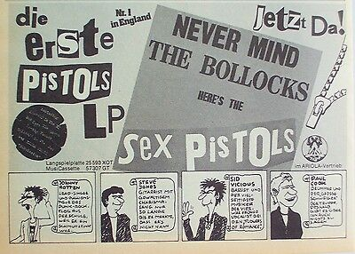 SEX PISTOLS 1977 Advert NEVER MIND THE BOLLOCKS HERE'S THE