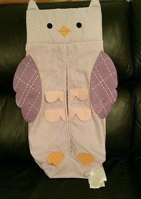 Baby Diaper Nappy Stacker - purple owl - LAMBS & IVY branded
