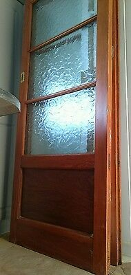 Heavy Wood & Glass Sliding Partition Doors